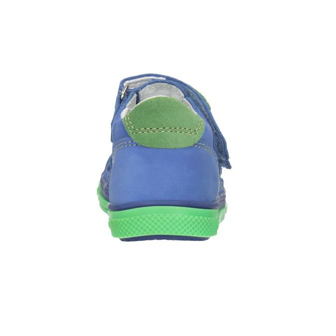Skórzane obuwie dziecięce na rzepy bubblegummer, 116-9601 - 16