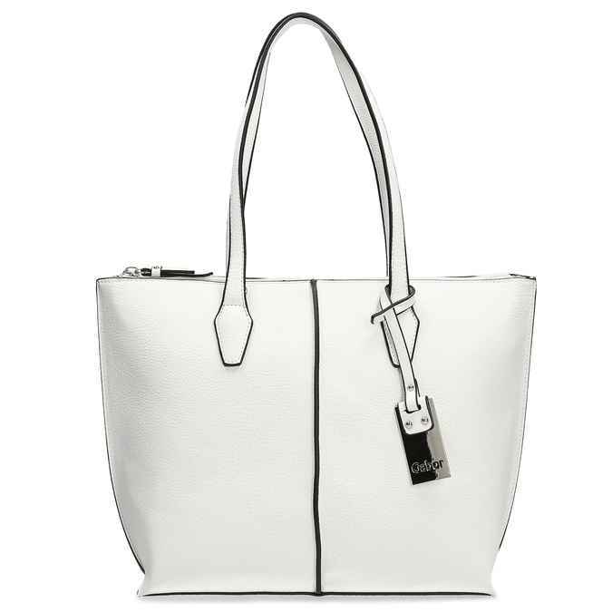 Niewielka biała torebka typu shopper gabor-bags, biały, 961-1016 - 26