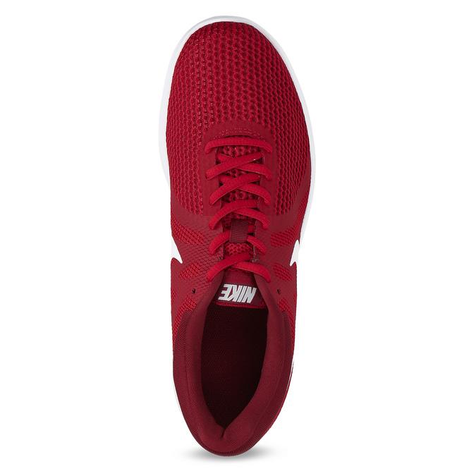Czerwone trampki męskie wsportowym stylu nike, czerwony, 809-5651 - 17