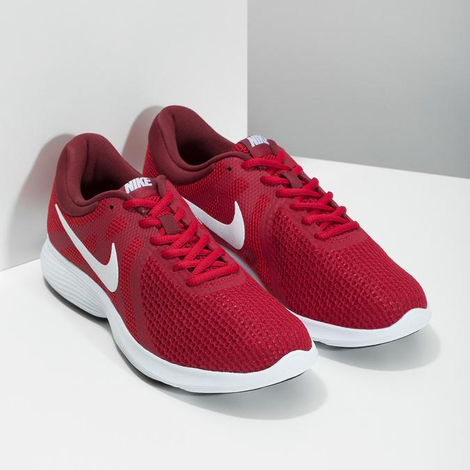 Czerwone trampki męskie wsportowym stylu nike, czerwony, 809-5651 - 26