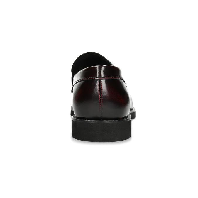 Skórzane mokasyny męskie oczerwonym połysku bata, czerwony, 814-5177 - 15