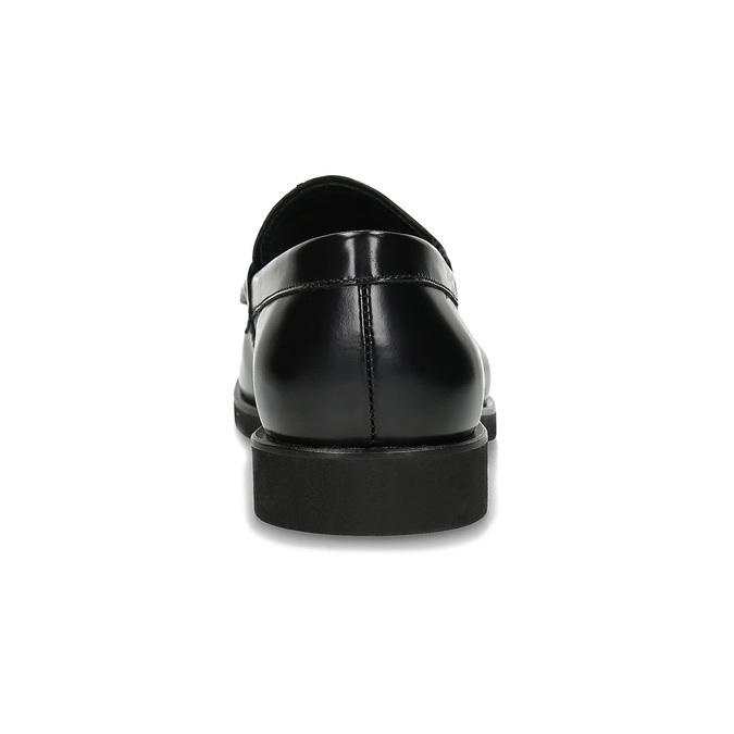 Czarne skórzane mokasyny męskie bata, czarny, 814-6177 - 15