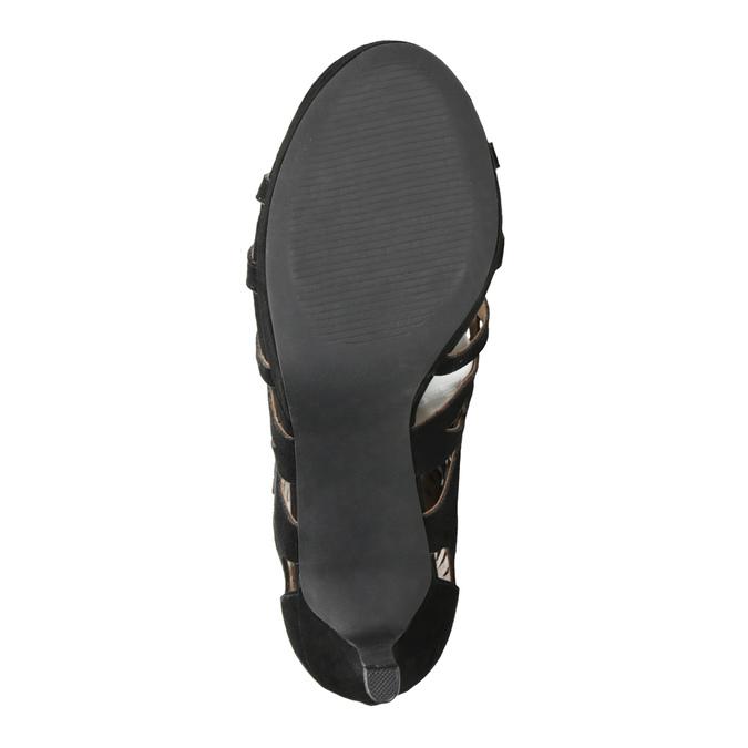 Sandały na szpilkach bata, czarny, 729-6615 - 17