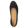 Zamszowe czółenka na koturnach gabor, czarny, 713-6063 - 15