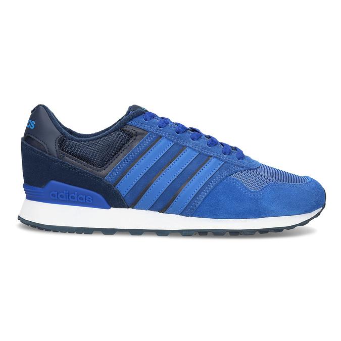Niebieskie skórzane trampki Adidas adidas, niebieski, 803-9293 - 19
