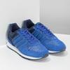 Niebieskie skórzane trampki Adidas adidas, niebieski, 803-9293 - 26