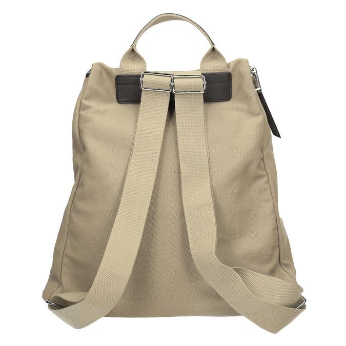 Plecak zmateriału tekstylnego, zkieszeniami bata, beżowy, 969-8685 - 16