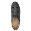 Czarne skórzane sandały męskie na wygodnej podeszwie comfit, czarny, 854-6602 - 17