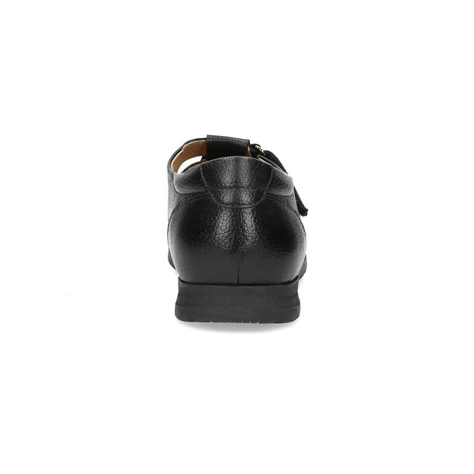 Czarne skórzane sandały męskie na wygodnej podeszwie comfit, czarny, 854-6602 - 15