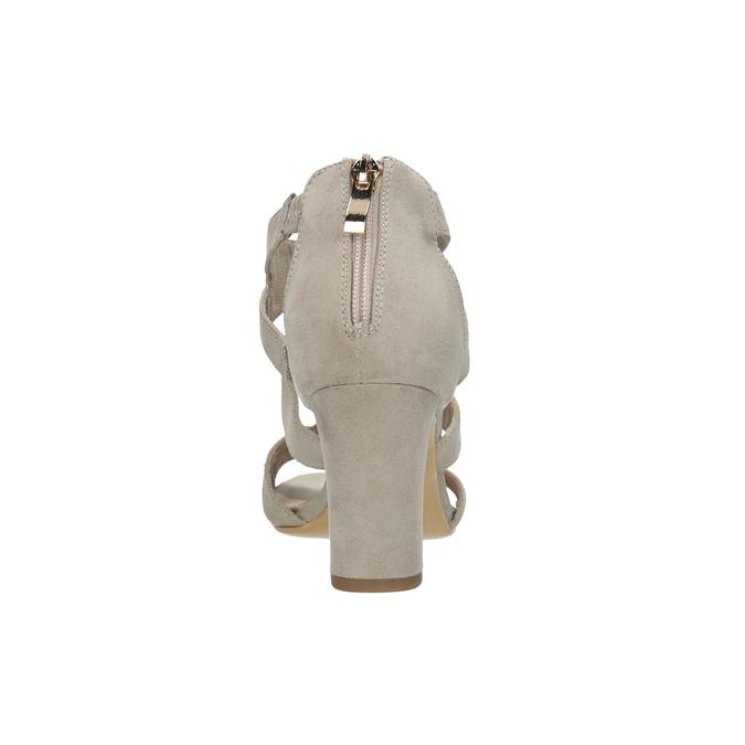 Sandały na stabilnych obcasach insolia, beżowy, 769-8617 - 15