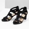 Czarne sandały na stabilnych obcasach insolia, czarny, 769-6617 - 16
