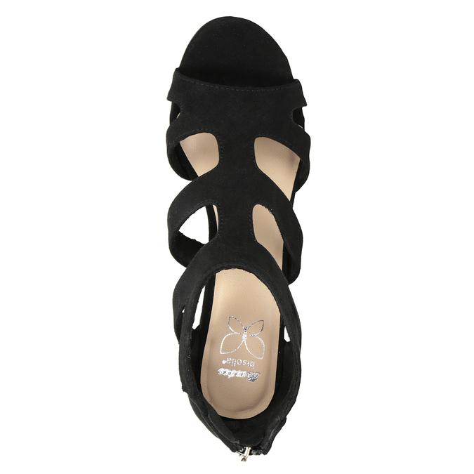 Czarne sandały na stabilnych obcasach insolia, czarny, 769-6617 - 17