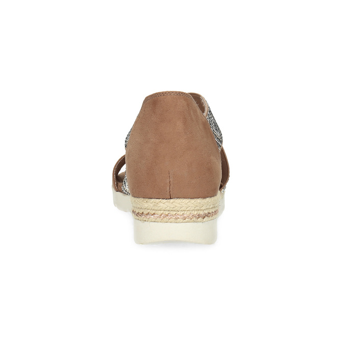 Brązowe sandały zwzorem bata, czarny, 569-6616 - 15