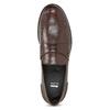 Brązowe skórzane mokasyny męskie bata, brązowy, 814-4128 - 17