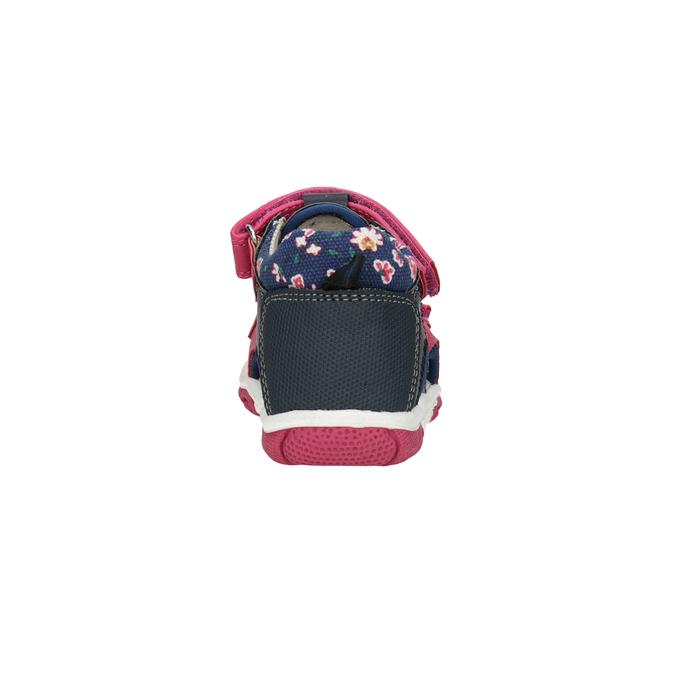 Sandały dziewczęce na rzepy bubblegummer, różowy, 161-5604 - 15