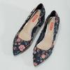 Czółenka wkwiaty na niskich obcasach bata-red-label, niebieski, 629-5640 - 16