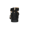 Czarne sandały damskie ze złotymi klamrami mini-b, czarny, 361-6606 - 15
