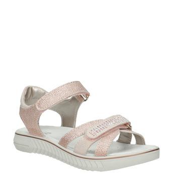 Różowe sandały dziewczęce zkryształkami mini-b, różowy, 361-5612 - 13