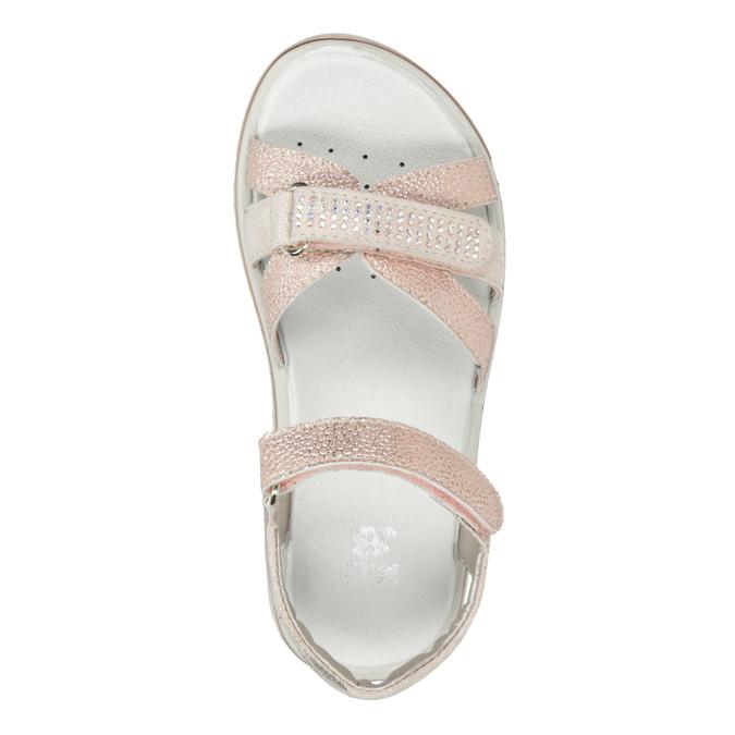 Różowe sandały dziewczęce zkryształkami mini-b, różowy, 361-5612 - 17
