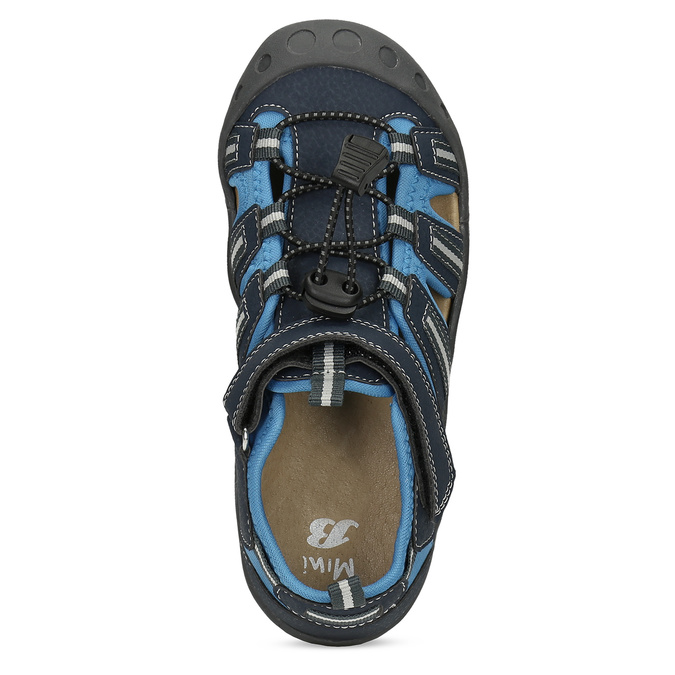 Granatowe sandały dziecięce mini-b, niebieski, 461-9606 - 17