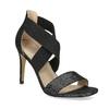 Czarne sandały na szpilkach insolia, czarny, 769-6625 - 13