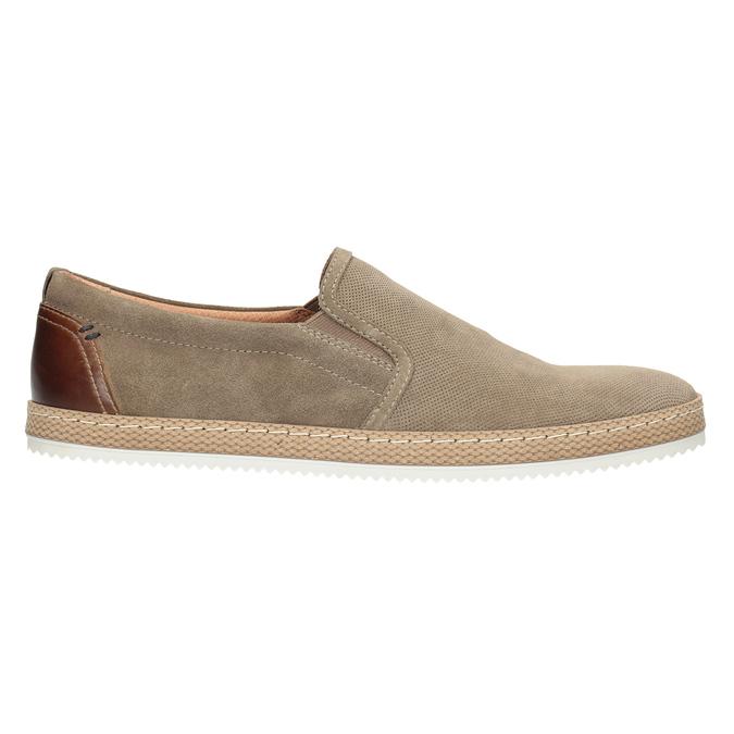 Zamszowe slip-on męskie bata, beżowy, 833-8602 - 26