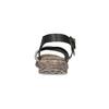 Szaro-czarne skórzane sandały damskie weinbrenner, czarny, 566-6641 - 15
