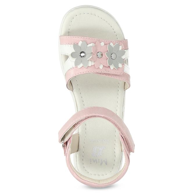 Różowo-białe sandały dziewczęce zkwiatkami mini-b, różowy, 261-5615 - 17