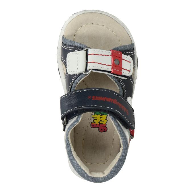 Granatowo-białe sandały dziecięce bubblegummer, niebieski, 161-9606 - 17