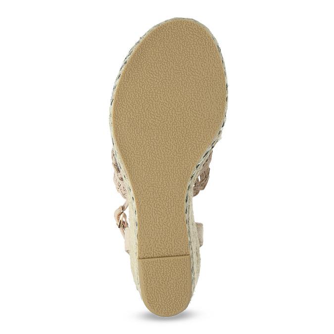 Wyplatane sandały na platformie bata, różowy, 759-8633 - 18