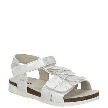 Srebrne sandały dziewczęce mini-b, biały, 261-1612 - 13