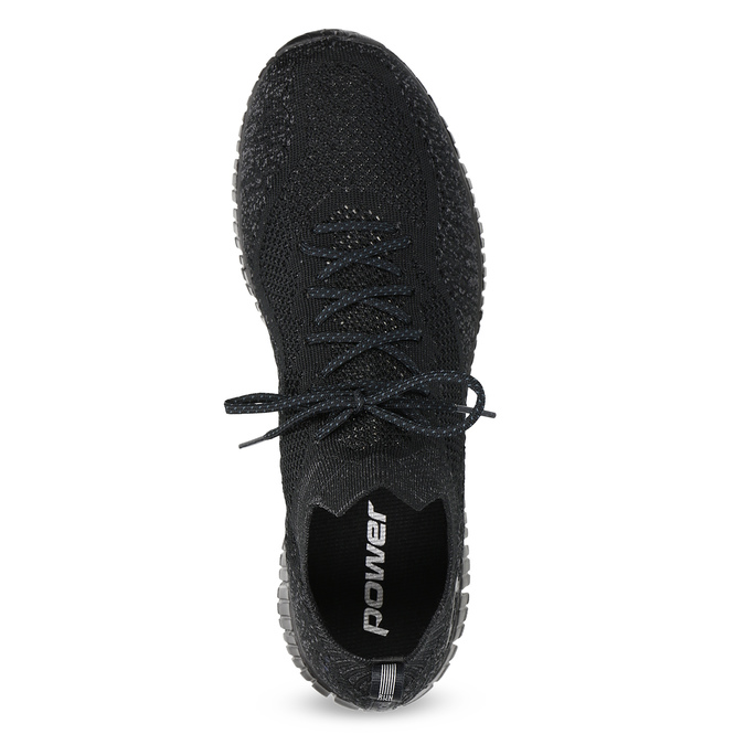 Czarne sportowe trampki męskie power, czarny, 809-6211 - 17
