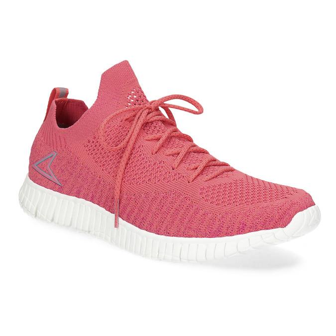 Różowe dzianinowe trampki damskie power, różowy, 509-5211 - 13