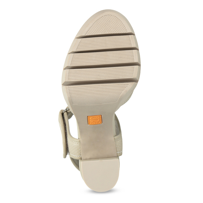 Sandały na grubych słupkach flexible, beżowy, 761-2616 - 18