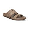 Jasnobrązowe skórzane klapki męskie bata, brązowy, 866-3639 - 13