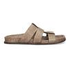 Jasnobrązowe skórzane klapki męskie bata, brązowy, 866-3639 - 19