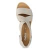 Skórzane sandały oszerokościG gabor, beżowy, 666-8347 - 17