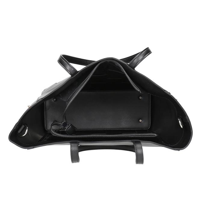 Czarna torebka zprzeplatanymi pasami bata, czarny, 961-6236 - 15