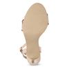 Różowe sandały zfalbanką, na szpilkach insolia, różowy, 769-5619 - 18