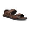 Brązowe skórzane sandały męskie bata, brązowy, 866-4633 - 13