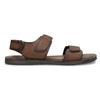 Brązowe skórzane sandały męskie bata, brązowy, 866-4633 - 19