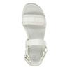 Białe sandały dziewczęce na podeszwie zbieżnikiem mini-b, biały, 361-1613 - 17