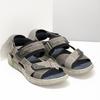 Szare skórzane sandały na rzepy bata, szary, 866-4640 - 26