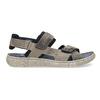Szare skórzane sandały na rzepy bata, szary, 866-4640 - 19