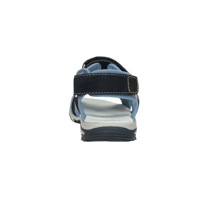 Granatowe sandały chłopięce zzapięciami na rzepy mini-b, niebieski, 261-9608 - 15