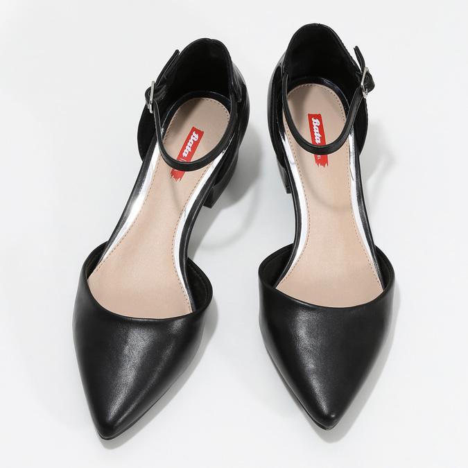 Czarne czółenka na niskich obcasach bata-red-label, czarny, 621-6607 - 16