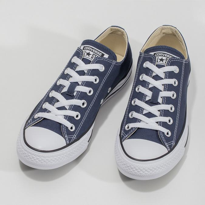 Płócienne trampki damskie zgumowymi noskami converse, niebieski, 589-9279 - 16
