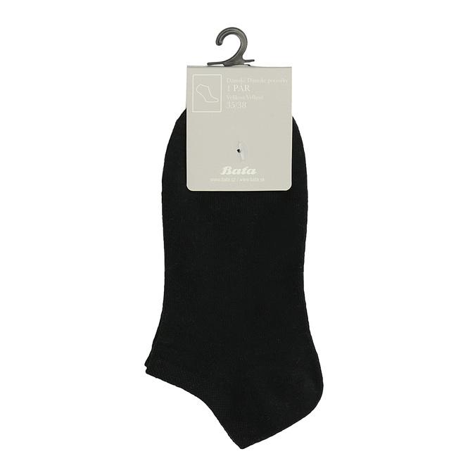Czarne stopki damskie bata, czarny, 919-6813 - 13