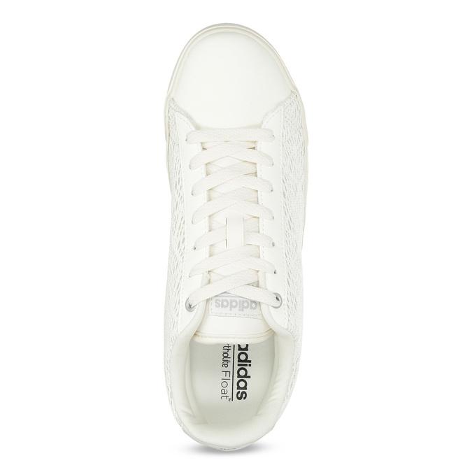 Trampki damskie zkoronką adidas, biały, 509-1554 - 17