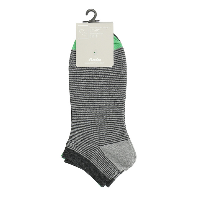 Prążkowane stopki męskie bata, szary, 919-2804 - 13
